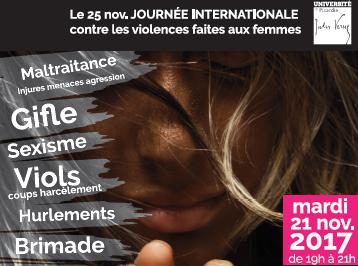 Débat dans le cadre de la journée internationale contre les violences faites aux femmes