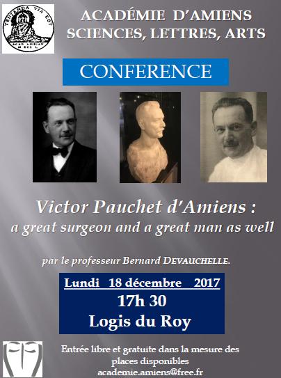 Conférence Victor Pauchet d'Amiens