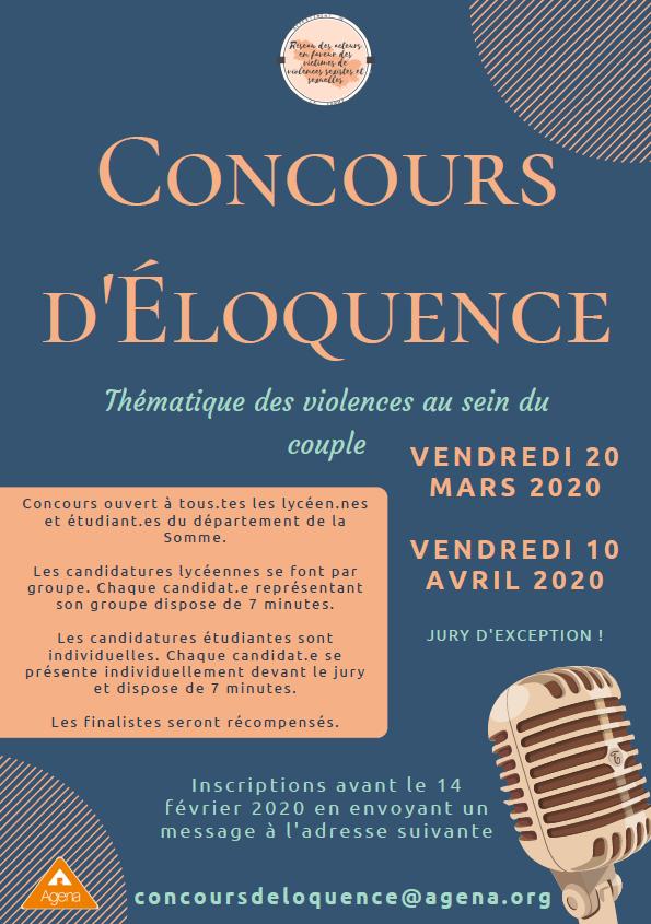 Concours d'éloquence : violences au sein du couple