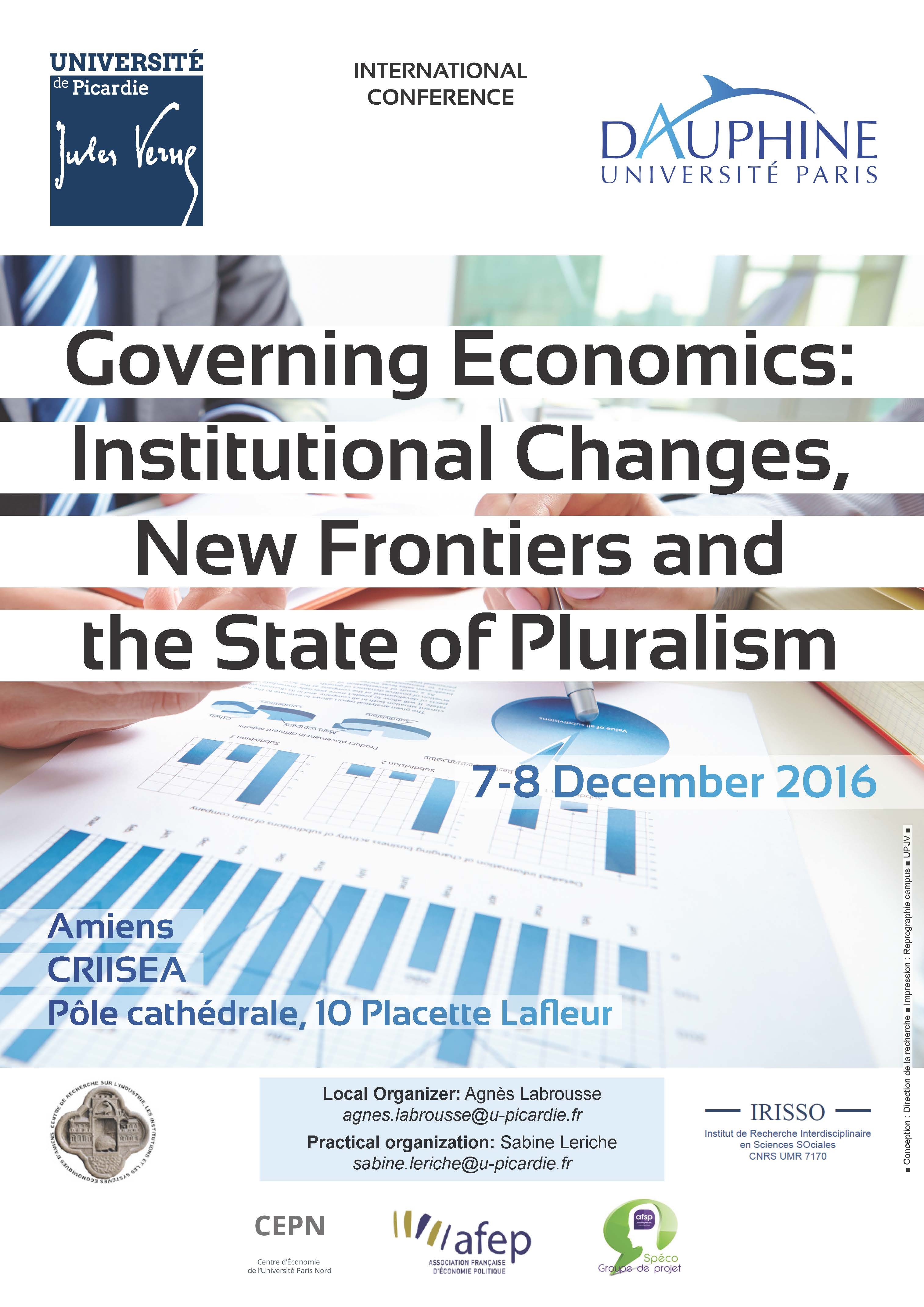 Governing Economics: Institutional Changes, New Frontiers and the State of Pluralism