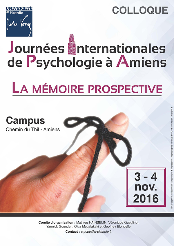 Journées Internationales de Psychologie à Amiens