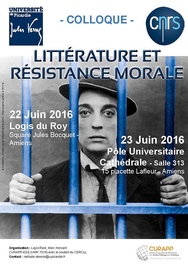 Littérature et résistance morale