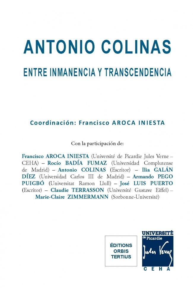 Antonio Colinas : entre inmanencia y transcendencia