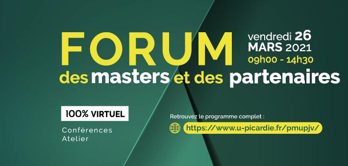 Rendez-vous au Forum des Masters et des Partenaires