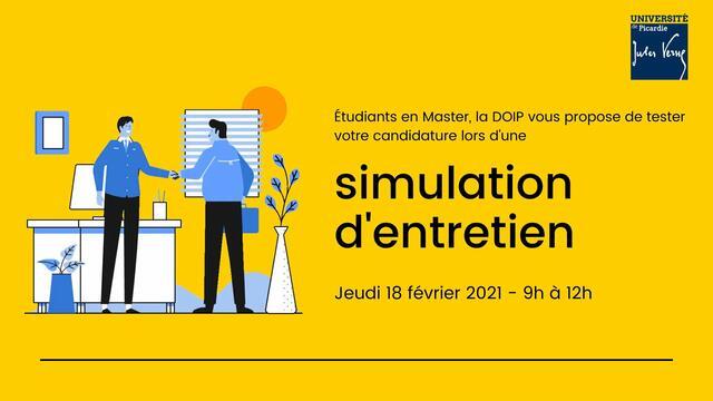 Master : Simulation d'entretien de recrutement