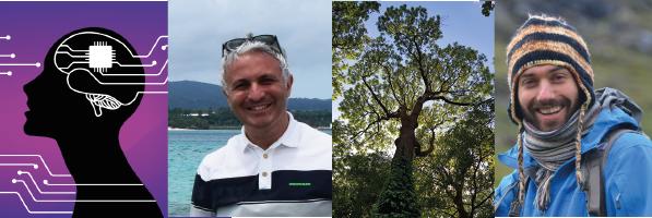 À gauche : Filippo Grassia, maître de conférences et spécialiste des systèmes d'intelligence artificielle neuromorphiques ; à droite : Jonathan Lenoir, écologue chargé de recherche CNRS