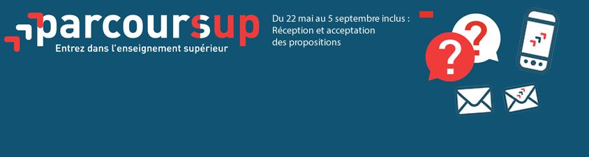Parcoursup : réception et acceptation des propositions