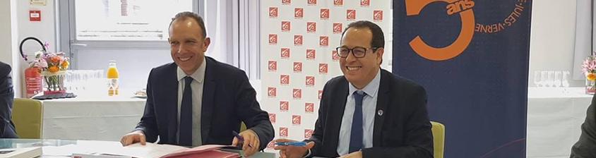 Signature officielle de la convention de partenariat UPJV - Caisse d'Épargne Hauts-de-France