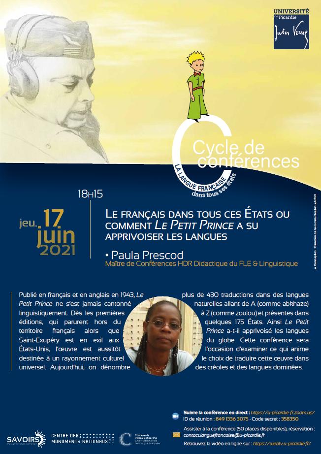 Cycle de conférences - La langue française dans tous ses états - Paula Prescod.jpg
