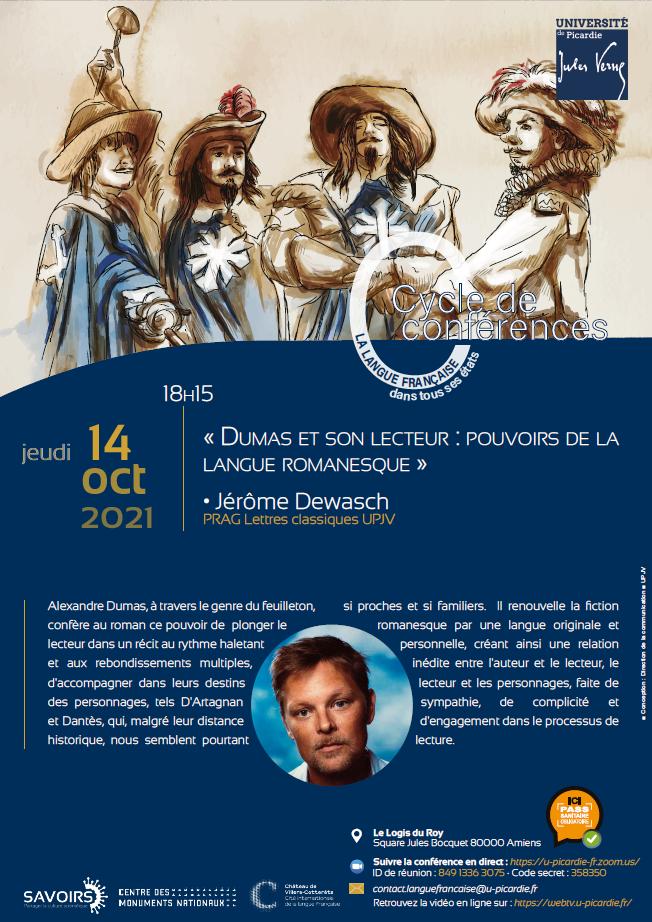 Cycle de conférences - La langue française dans tous ses états - Conférence Jérôme Dewasch