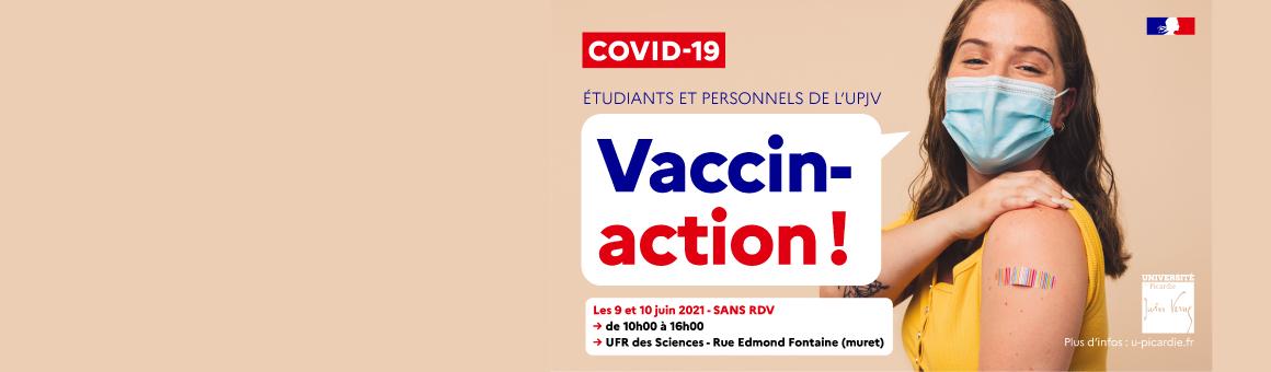 Vaccination personnels et étudiants UPJV